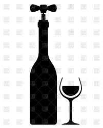 wine glass silhouette silhouette of wine bottle with corkscrew vintage wine sampling