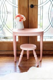Girls Vanity Table And Stool U0027s Vanity Set From An Antique Side Table Confessions Of A