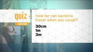 how far does a sneeze travel images Quiz how far can bacteria travel when you cough jpg
