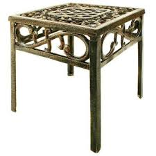 Rectangular Patio Tables Bronze Metal Patio Furniture Patio Tables Patio Furniture
