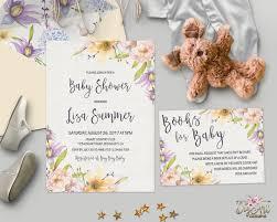 floral baby shower invitation printable gender neutral boho