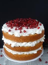white chocolate pomegranate vanilla cake holiday classics
