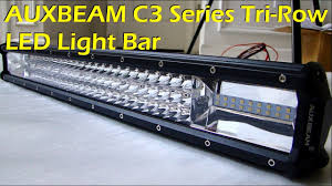auxbeam c3 series tri row led light bar