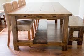 Rustic Farmhouse Dining Table With Bench Dining Room Table Farmhouse Tables Victorian Medium With Benches