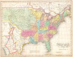 Border Map Of Usa by File 1823 Melish Map Of The United States Of America