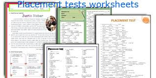 english teaching worksheets placement tests