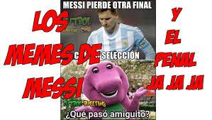Los Memes De Messi - los memes del penal de messi argentina y el bice祿n chile