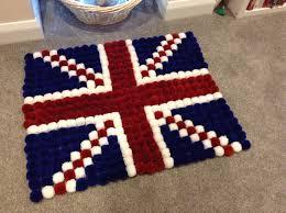 British Flag Area Rug Pom Pom Union Flag Rug By Handmadeinabingdon On Etsy Https Www