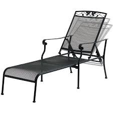Wrought Iron Chaise Lounge Mainstays Jefferson Wrought Iron Chaise Lounge Black Walmart