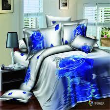 Blue Camo Bed Set Top Grade Beautiful Bedding Set 100 Cotton 3d Twill Bedding Set