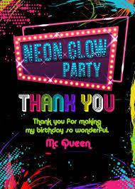 glow in the birthday party glow birthday invitation neon glow birthday party invitation glow