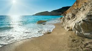 exotic blue colour of the beach lefkada greece wallpaper