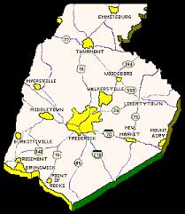maryland map free frederick county maryland usgenweb the land of the free