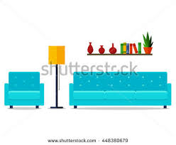 Home Interior Vector by Flat Design Vector Illustration Modern Home Stock Vector 443110639