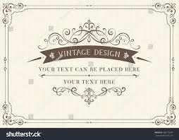 ornate vintage card design ornamental flourishes stock vector