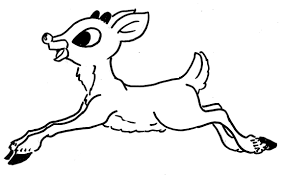 drawn reindeer rednosed pencil and in color drawn reindeer rednosed