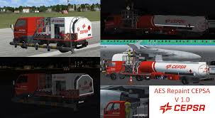 Fuel Truck Driver Aes Repaints Cepsa Fuel Truck Pump And Driver Airport Vehicle
