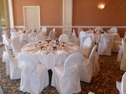 White Chair Cover Chairs Covers Bows Thesecretconsul Com