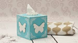 how to decorate a tissue box decoupage diy by catherine youtube