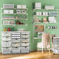 Craft Room Closet Organization - the container store u003e white elfa mesh craft room organize