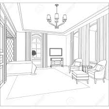sketch room 3d room drawing pencil art drawing