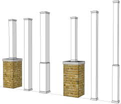 porch support post home design styles