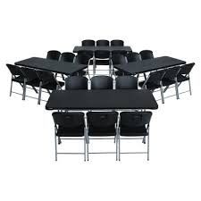 What Size Tablecloth For 6ft Rectangular Table by 6 Ft Rectangular Tables And Chairs Set Black