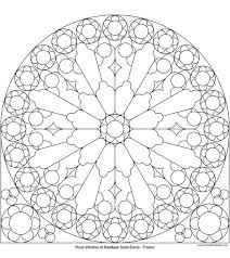 many different rose window