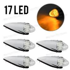 5 17 led semi truck clear roof cab marker clearance lights