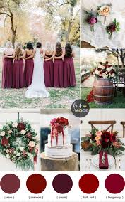 Color Theme Ideas Burgundy Wedding Theme Autumn Wedding Shades Of Burgundy