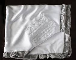 christening blanket personalized embroidered with satin ruthie and