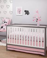 Disney Minnie Mouse 8 Piece Crib Bedding Set Disney Minnie Mouse Hello Gorgeous Baby Bedroom Collection