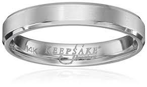 mens 14k white gold wedding bands men s keepsake signature 14k white gold 4mm wedding band