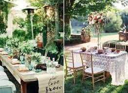Backyard Wedding Decorations Ideas 20 Sweet Reception Table Décor Ideas For Small Intimate Weddings