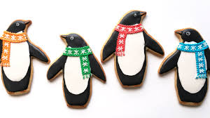how to decorate penguin cookies youtube