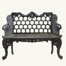 u0026ldquo white house u0026rdquo cast iron garden bench garden