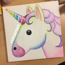 unicorn emoji canvas great for kids room decor krazy k paints