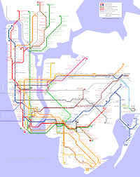 Manhatten Subway Map by New York Metro Subway Map Travel Map Vacations