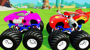 kids monster truck video for kids police vs car battle video police monster truck videos