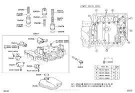 valve body u0026 oil strainer atm toyota part list jp carparts com