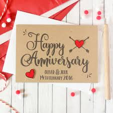 happy anniversary cards personalised anniversary card happy anniversary card by