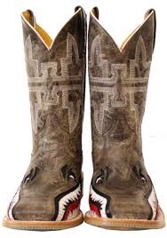 tin haul gnarly shark cowboy boots urban western wear