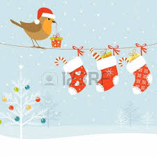 funny robins decorating a christmas tree royalty free cliparts
