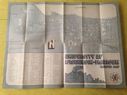 University Of Wisconsin Madison Map by 1976 University Of Wisconsin Madison Campus Map Ebay Maps