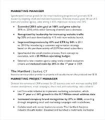 Resume Template Skills Based Marketing Manager Resume Sample Pdf U2013 Topshoppingnetwork Com