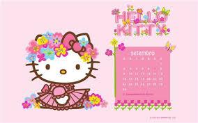 free printable kitty calendar september 2012 cute kawaii
