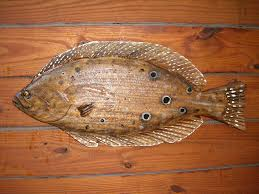 flounder 26 chainsaw wood fish carving art sealed zoom