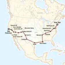 road trip map of usa coast to coast road trip eastbound in new york city usa lonely