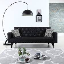 a black leather couch u2013 a unique furniture piece cool ideas for home