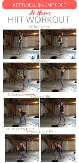 Rope Floor L At Home Kettlebell And Jump Rope Hiit Workout Kettlebell